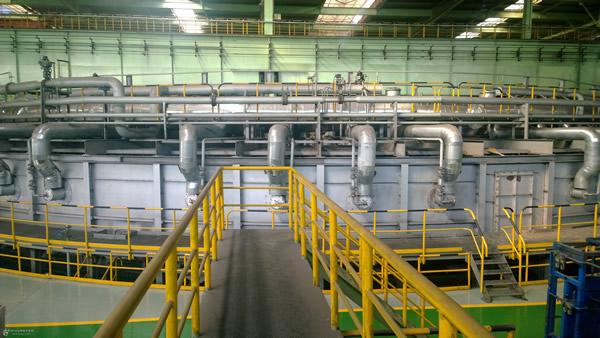 Rotating heat furnace